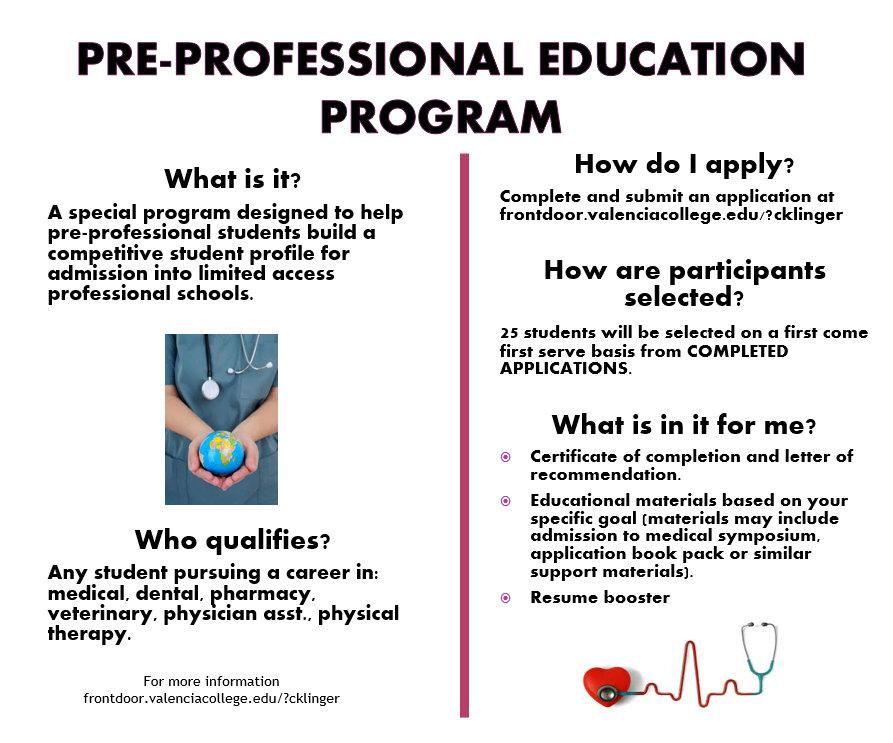 Pre Professional Medical Education Program Valencia College Pre